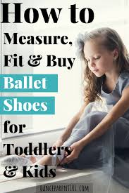 measure for ballet shoes